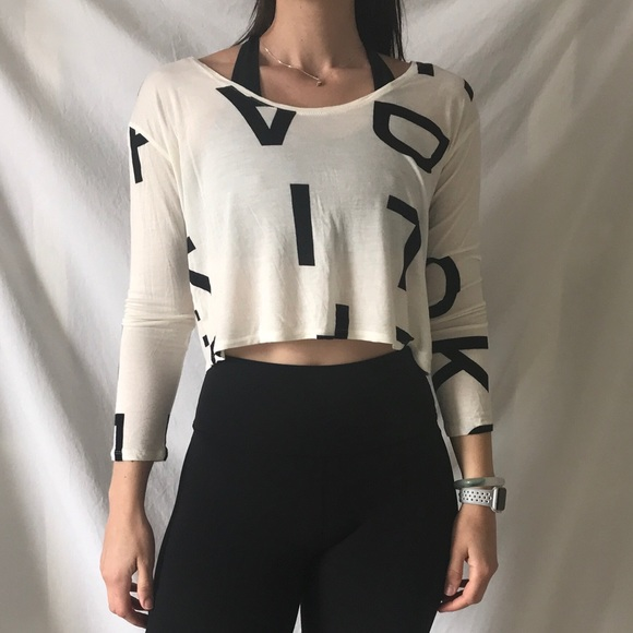c5f264e21f2 silence + noise Tops | Alphabet Letters Crop Top | Poshmark